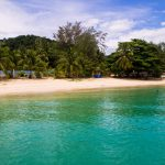Kapas has beautifull beaches and nice clear water surrounding it all around