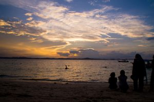Kapas beach is great to sit down and enjoy the sunset