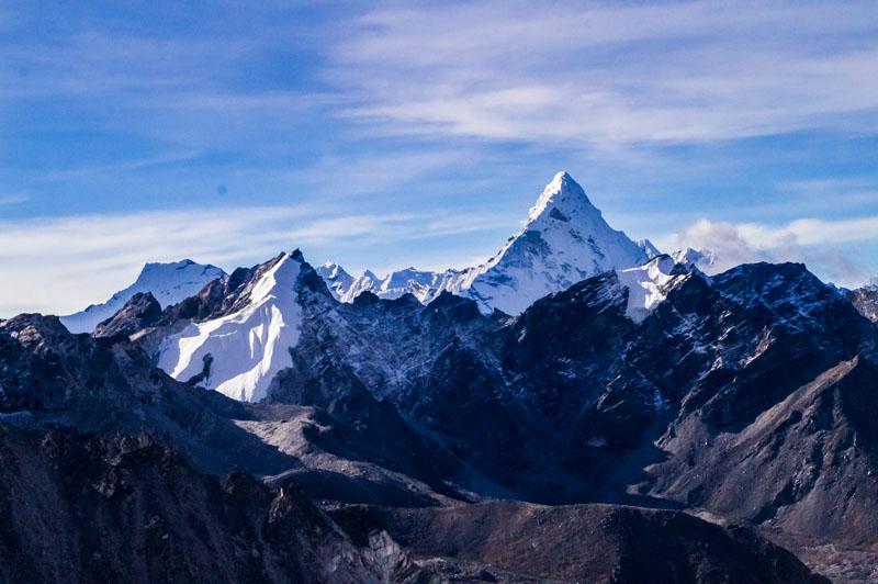 Everest Basecamp, where we got engaged!