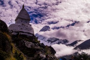 Stupa on Everest Basecamp trek Nepal