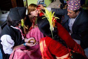 dashain festival kathmandu nepal tikka ceremony