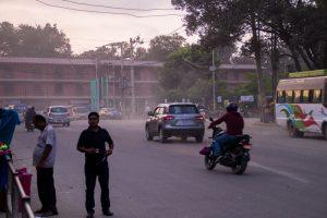 kathmandu stoffige straten