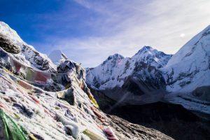 sunrise over mount Everest on Everest Basecamp trek Nepal