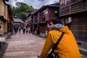 Japanese Alps biking kanazawa Higashiyama Dori
