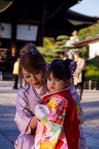 Japanese Alps child kimono