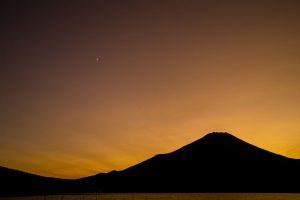 Sunset at Mount Fuji in Japan