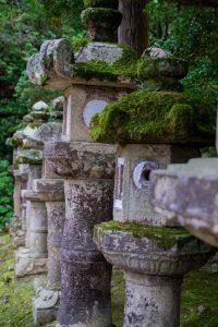 Nara Japan stone lanterns