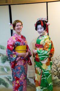 Osaka Japan Maikoya geisha