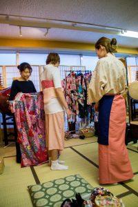 Osaka Japan Maikoya kimono dressing female