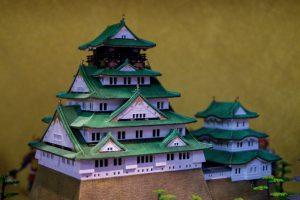 Osaka Japan Maikoya samurai museum castle miniature