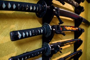 Osaka Japan Maikoya samurai museum old swords