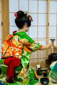 Osaka Japan Maikoya tea ceremony geisha