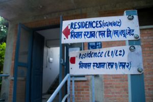 Vipassana signs to indicate residence