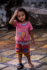 Bakthapur Nepal little girl