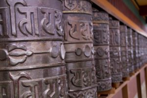 Namo Buddha Monastery Kathmandu Valley prayer wheels