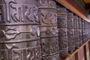 Namo Buddha Monastery Kathmandu Valley prayer wheels