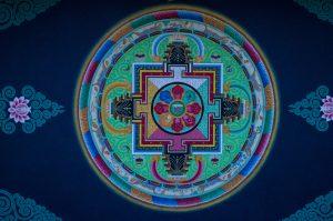 Namo Buddha Monastery ceiling painting