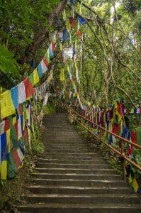 Namo Buddha Monastery tibetan prayer flags