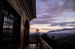 Namo Buddha Monastery view sunset