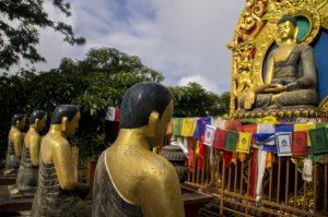 Namo Buddha statues Monastery Kathmandu Valley