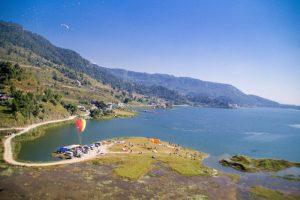 Pokhara Nepal Paragliding landing area