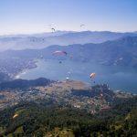 Pokhara Nepal paragliders