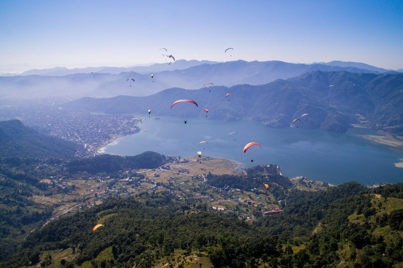 Pokhara en het prachtige Annapurna gebergte