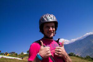 Pokhara Nepal ready to paraglide
