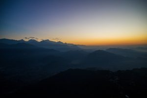 Pokhara Nepal sunrise from Sarangkot