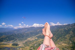 Pokhara Nepal view from a parachute